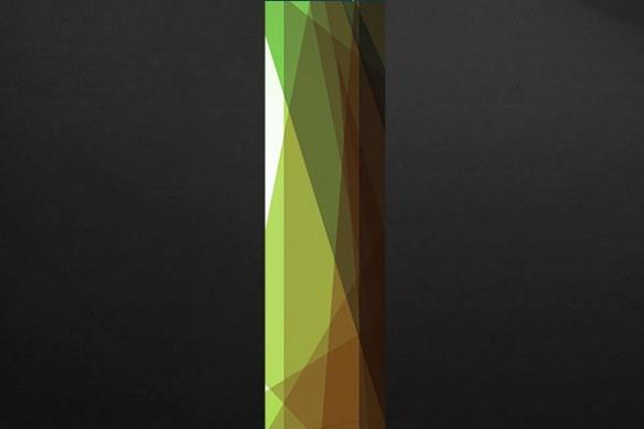 Papier peint géométrique Zirconium vert