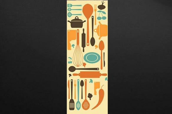 Papier peint Cuisine Ustensiles