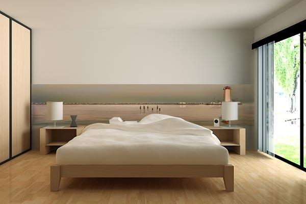 frise murale mur phare rouge izoa. Black Bedroom Furniture Sets. Home Design Ideas