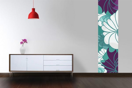 Papier peint retro fleurs Bambloo