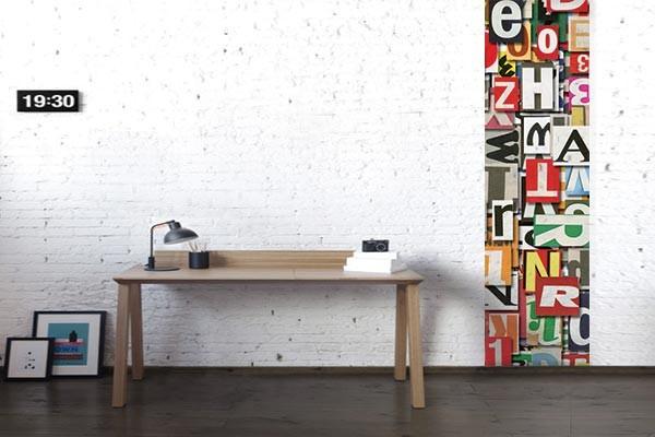 papier peint mural alphabet izoa. Black Bedroom Furniture Sets. Home Design Ideas