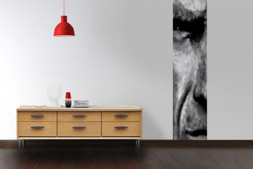 Papier peint salon Clint Eastwood