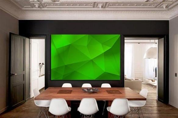 Tableau Abstrait Abstraction vert