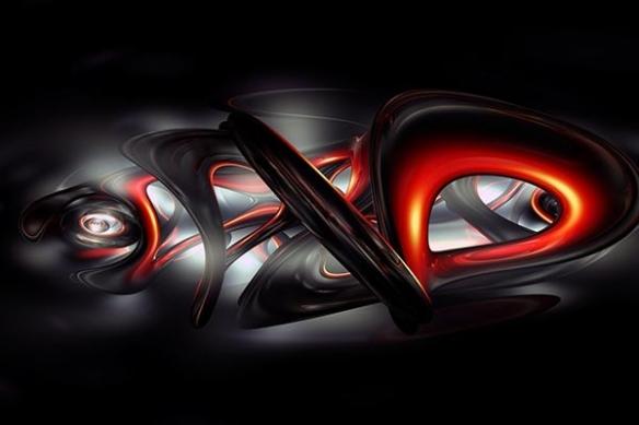 Toile déco Abstrait Bakota rouge