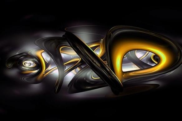poster déco Abstrait Bakota jaune