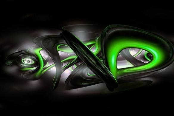 déco Abstrait Bakota vert