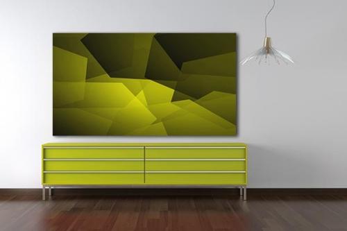 tableaux abtsraits Caracao jaune