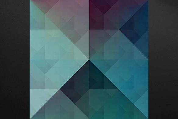 Tableau abstrait contemporain Chromatic bleu ciel