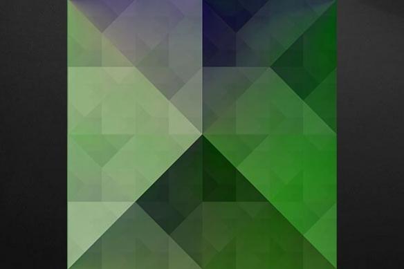 Tableau abstrait pyramide