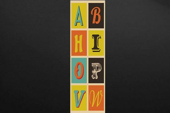 Papier peint enfant Lettres