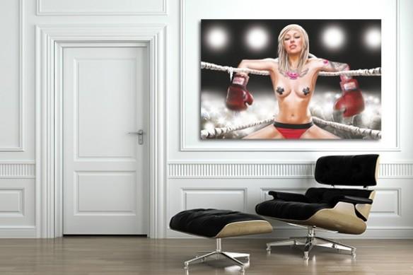 Tableau déco Tania la boxeuse par Dogan Oztel