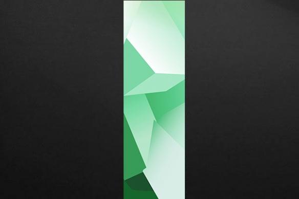 deco mur design Theta vert