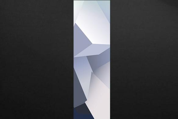 trompe oeil design Theta bleu