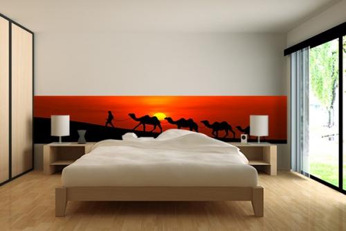 frise murale Caravane