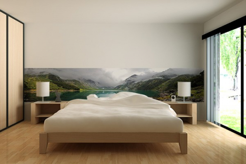 papier peint mural lac nouvelle z lande izoa. Black Bedroom Furniture Sets. Home Design Ideas