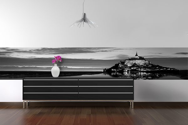 frise murale mont st michel izoa. Black Bedroom Furniture Sets. Home Design Ideas