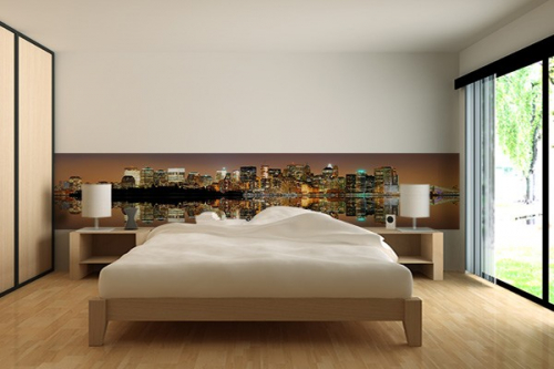 papier peint new york avec un poster mural trompe l 39 oeil g ant izoa. Black Bedroom Furniture Sets. Home Design Ideas