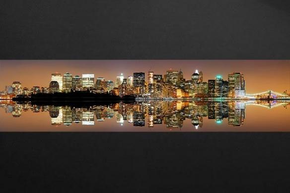 Papier peint ville New York miroir