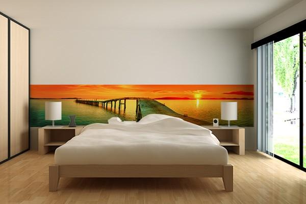 Papier peint moderne passerelle izoa - Papier peint contemporain chambre ...
