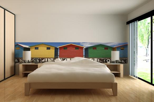 Frise murale geante chambre Vacances
