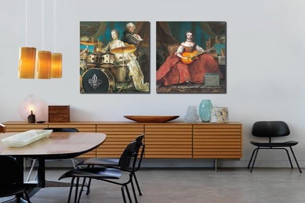 tableau diptyque orchestre baroque izoa. Black Bedroom Furniture Sets. Home Design Ideas