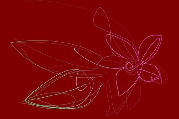 décoration Fleur de Vanille pour papier peint