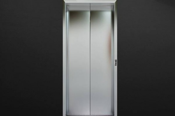 trompe oeil ascenseur fermé
