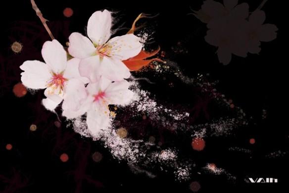 Papier Peint zen fleur cerisier vent