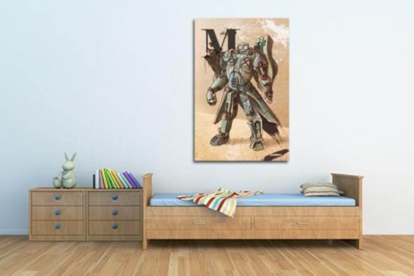 robot décoration mural xxl