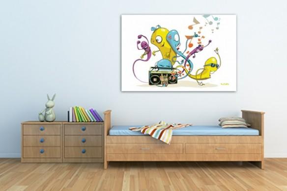 Tableau déco chambre enfant Worms par Vain