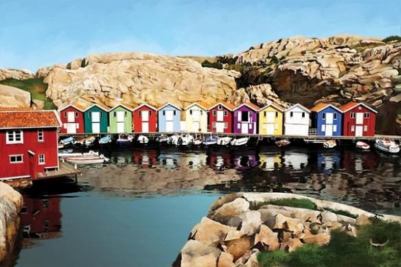 Tableau photo fjord