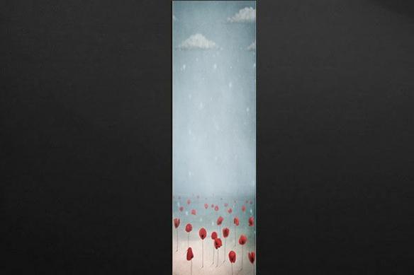 Papier peint deco mur pavots