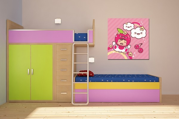 d coration chambre enfant tableau chouquette izoa. Black Bedroom Furniture Sets. Home Design Ideas