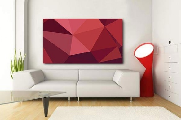 Tableau abstrait Rubis rouge