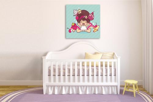 Décoration chambre enfant Lili Rose bleu ciel
