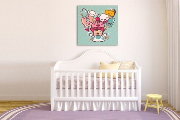 Décoration chambre enfant Petite Douceur vert