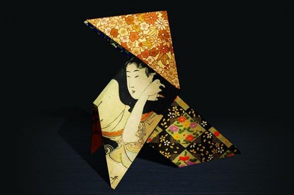 Décoration murale cocotte geisha papier design