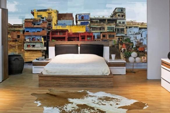 Papier Peint paysage favelas
