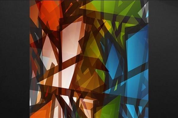 vitrail abstrait Dubnium
