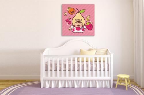 Décoration chambre enfant Poire belle Hélène rose