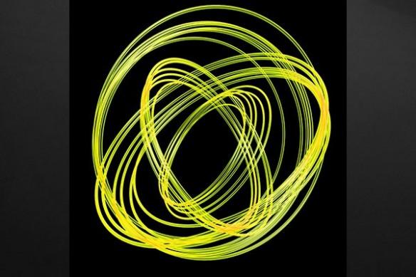 Photon poster mural jaune