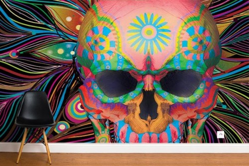 Papier peint design Mexicrane noir