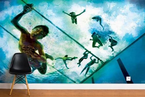 Papier peint design Underwater