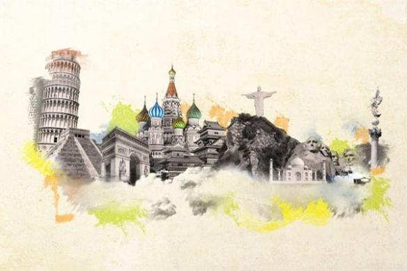 Papier Peint photo merveilles du monde