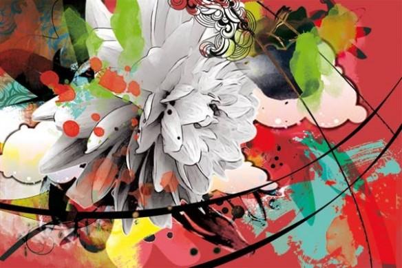 Papier peint Fleur photo
