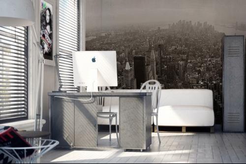papier peint gris pour une d co murale originale izoa. Black Bedroom Furniture Sets. Home Design Ideas