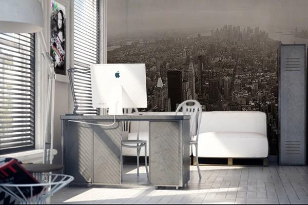 papier peint new york vue panoramique. Black Bedroom Furniture Sets. Home Design Ideas