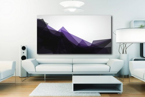 decoration mural salon tableau Design Ascension violet