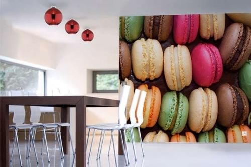 Papier peint photo Macarons au Chocolat