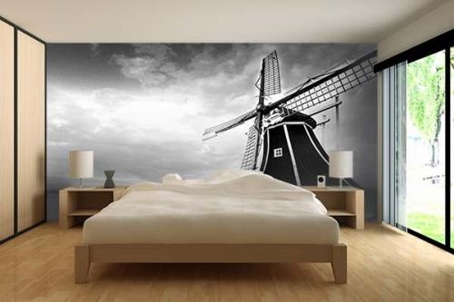 Papier peint photo Moulin Amsterdam